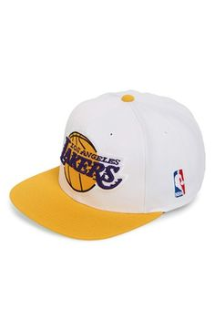 Mitchell  amp  Ness  Los Angeles Lakers - XL Logo  Snapback Cap Lakers Hat f929a389172d