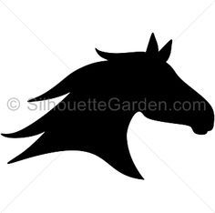 Horse head silhouette clip art. Download free versions of the image in EPS, JPG, PDF, PNG, and SVG formats at http://silhouettegarden.com/download/horse-head-silhouette/