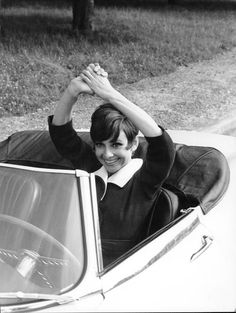 Audrey Hepburn on the set of How to Steal a Million, 1965