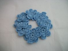 Irish Rose Embellishments in Blue by peacoxtoo on Etsy, $7.00