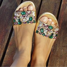 Uza shoes ❤️ Sock Shoes, Cute Shoes, Me Too Shoes, Creative Shoes, Embellished Shoes, Beautiful Sandals, Shoes Sandals, Heels, Ankle Boots