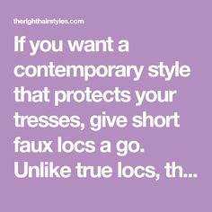 If you want a contemporary style that protects your tresses, give short faux locs a go. Unlike true locs, these extensions require no long-term commitment and can be worn by any hair type. Dreads are often associated with long lengths, but they are gorgeous in cropped forms too. Read on to learn more about this …