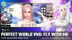 Perfect World VNG: Fly with me | Gameplay for Android and iOS | Open World RPG | Gamesoda - YouTube Open Word, Free Mobile Games, Perfect World, Google Play, Android, Youtube, Movie Posters, Rpg, Film Poster