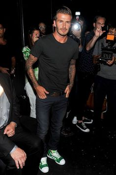 Because Beckham can rock jeans and a t-shirt and still be the essence of style. (Fashion Week: Street Style New York - GQ)