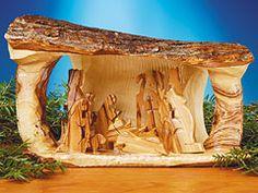 Holy Land Log Nativity