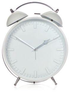 Metal Alarm Clock - White modern clocks