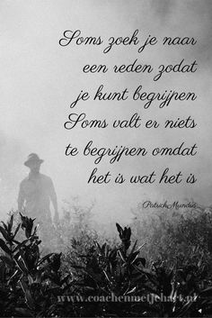 maar soms is het moeilijk om te aanvaarden Que sera sera Heart Quotes, Wisdom Quotes, Sign Quotes, Words Quotes, Me Quotes, Sayings, Dutch Words, Dutch Quotes, Strong Quotes