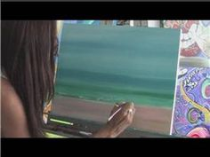 Painting With Acrylics : How to Paint a Beach - YouTube