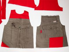 Recycle Cargo Pants to a Toddler's Skirt