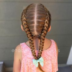 2 dutch braids connected at the very bottom!