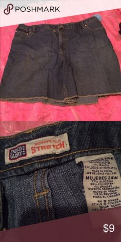 Faded Glory Stretch Jean Shorts Size 24W Faded Glory Stretch Jean Shorts Size 24W EUC Faded Glory Shorts Jean Shorts
