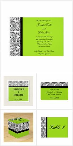Vintage damask in black and white decorates this elegant modern wedding invitation with lime green background design giving your wedding invitations a touch of class. Wedding 2017, Wedding Suits, Lime Green Weddings, Invitation Set, Invites, Elegant Modern Wedding, Damask Wedding, Modern Wedding Invitations, Green Backgrounds