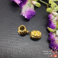 """6 wunderschöne goldfarbene Anhängerösen """"Blüte"""". Schwere Ausführung!  Für viele kreative Schmuckideen geeignet!"""