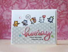 Laura Bassen | hooray happy birthday | Mama Elephant-Little Cat Agenda