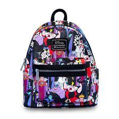 Disney Villains Print faux-leather Mini-Backpack - Loungefly - Disney - Backpacks at Entertainment Earth Disney Purse, Disney Dooney, Disney Handbags, Disney Gift, Mini Mochila, Mini Backpack Purse, Faux Leather Backpack, Leather Backpacks, Leather Bags