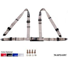 PAIR OF 4 POINT RACING HARNESS, ROAD LEGAL SEAT BELT JDM Racing Seat Belts