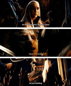 "Because lol elf jokes. | 19 Reasons Thranduil Is The Real Star Of ""The Desolation Of Smaug"""