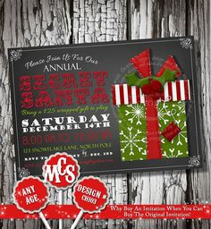 Check out our christmas birthday party invite selection for the very best in unique or custom, handmade pieces from our shops. Christmas Party Invitations, Birthday Party Invitations, Christmas Birthday Party, Mickey Mouse Christmas, Diy Party, Party Printables, Holiday Decor, Handmade Gifts, Etsy