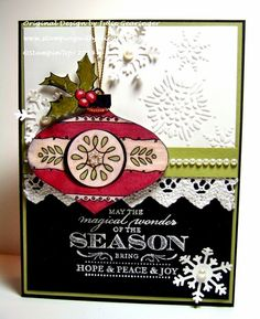 Stamping with Julie Gearinger: Magical Season- A Sneak Peak at Stampin' Up! Christmas Bauble
