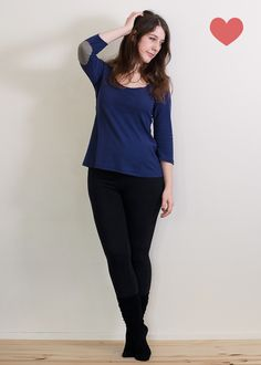Plantain Top.  Free Pattern from de Deer and Doe. Plus size up to 46' bust.