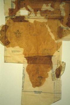 Susan Stockwell, Pattern of the World, 2000. Teaching Maps, Concertina Book, Dress Making Patterns, Installation Art, Art Installations, Map Art, Detailed Image, African Art, Book Art