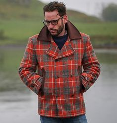Harris Tweed, Classic Man, Gentleman, Men Casual, Menswear, Street Style, Pea Coat, Choices, Salmon