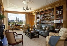 Reinvention of a Fifth Avenue Apartment | John B. Murray Architect OVERSIZE CEILING MEDALLION