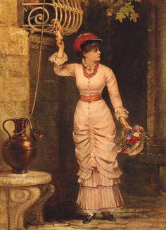 The Love Letter (1883) - Jerry Barrett - (United Kingdom, 1814-1906)