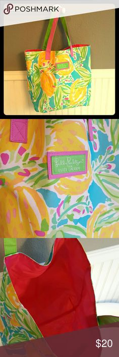 Lilly Pulitzer Tote! Selling a Never Used Lilly Pulitzer Tote! Perfect condition, very clean, brightly colored, good size tote. Lilly Pulitzer Bags Totes
