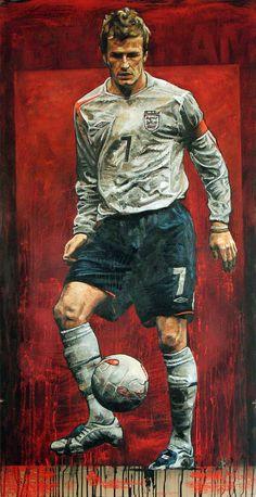 Legends Football, Football Icon, Football Love, Best Football Players, Football Art, David Beckham Manchester United, Manchester United Football, David Beckham Wallpaper, David Beckham Football