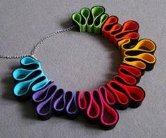 Felt necklace multicolour