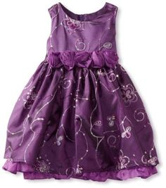 Amazon.com: Children's Apparel Network Baby-girls Infant Embroidery and Sequin Taffeta Dress With Panty: Clothing