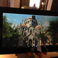 Intel Baytrail Android reference tablet running SkyCastle 2 at 2560 x 1440
