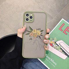 Line Art Sketch Flower Girl iPhone Case - iphone 12 pro / Line Art - Style 1