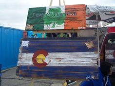 Upcycled Art - recycled wood signs. Found at Mile High Marketplace in #Denver #Colorado