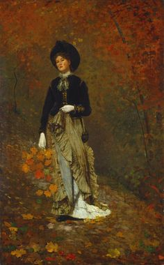 "Fall is here! We're anticipating fall foliage. Your favorite ᆢ ᆢ autumnal colors? Winslow Homer ""Autumn"" """