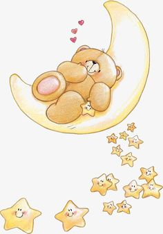 Cute Forever Friends bear with smiley stars Tatty Teddy, Scrapbooking Image, Baby Animals, Cute Animals, Teddy Bear Pictures, Love Bear, Cute Teddy Bears, Cute Illustration, Friends Forever