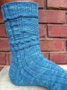 Lighthouse Gansey Socks - Winter 2007 - Knitty