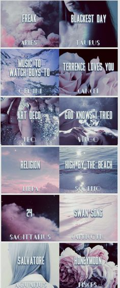 Lana Del Rey + zodiac signs #LDR #Honeymoon