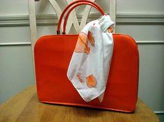 Vintage 50s 60s ORANGE Patent TOLIN Handbag by VixVintage on Etsy, $32.00