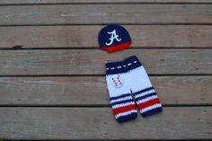 Free Shipping. Newborn Alabama Crimson Tide baby cap and pants,crochet baby cap,crochet baby pants ,Baseball beanie Alabama Crimson Tide hat by Etvy on Etsy