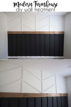 DIY Accent Wall - Board and Batten Herrinbone Wainscotting Combo accentwall walltreatment homedecor Diy Accent Wall, Home Accents, House, Home Projects, Home, Home Remodeling, New Homes, Modern Farmhouse Diy, Home Diy