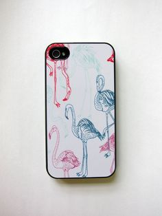 Flamingo iPhone Case by whiskeykittens on Etsy, $20.00