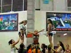 so want to do this stunt looks cool(: Cheer Camp, Cheer Coaches, Cheer Dance, Varsity Cheer, Football Cheer, College Football, Cheerleading Videos, Gymnastics Stunts, College Cheerleading