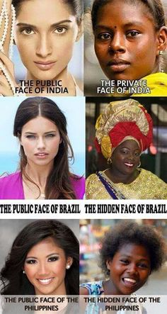 Any questions? This is about the white beauty ideal.