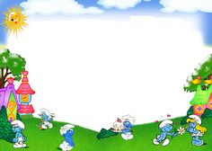 smurfs picture framed - Buscar con Google