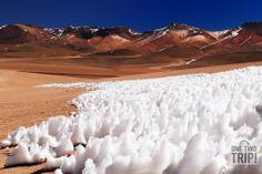 #Nieve en el #desierto de #Bolivia, donde podemos encontrar los #Andes más alucinantes