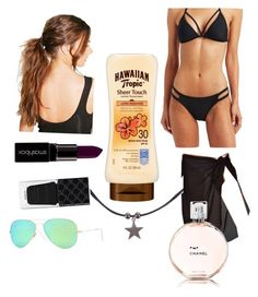 """""""I'm going to FLORIDA"""" by peyspals ❤ liked on Polyvore featuring Charlotte Russe, Ray-Ban, Monsoon, Boohoo, Smashbox, Chanel and Gucci"""