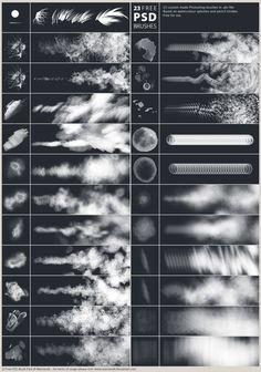 23 Free PSD Brushes by *Marcianek on deviantART Download here! http://www.deviantart.com/download/363268954/23_free_psd_brushes_by_marcianek-d60a44a.zip #photoshop #tutorial #brushes