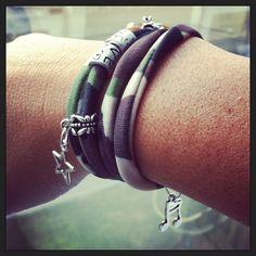 Lycra bracelet camuflage